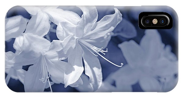 IPhone Case featuring the photograph White Azalea Flowers Blues by Jennie Marie Schell