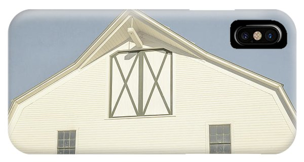 New England Barn iPhone Case - White Barn South Woodstock Vermont by Edward Fielding
