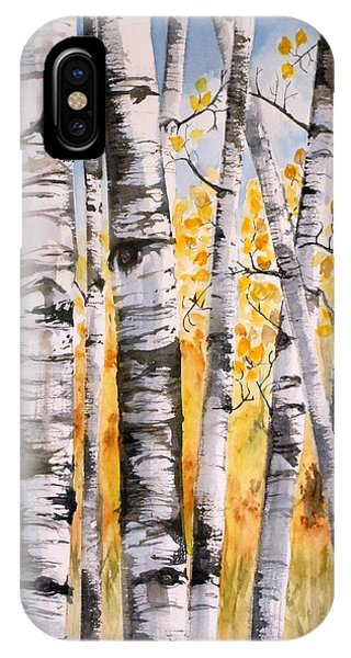 White Birch Meadow IPhone Case