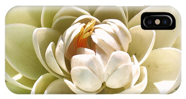 White Blooming Lotus IPhone Case