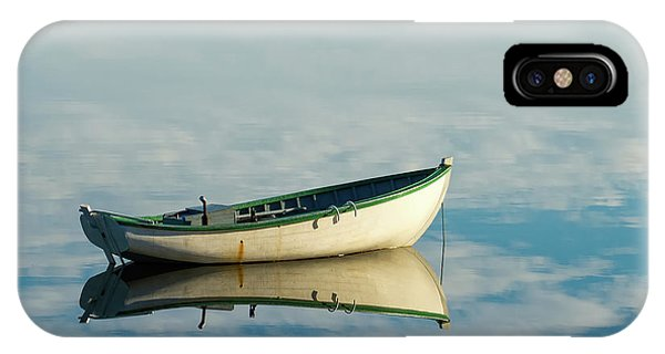 White Boat Reflected IPhone Case