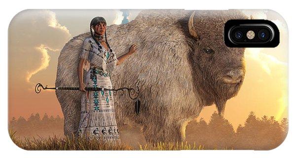 Tribal iPhone Case - White Buffalo Calf Woman by Daniel Eskridge