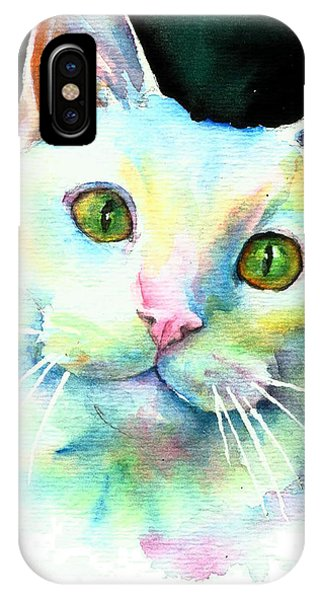White Cat IPhone Case