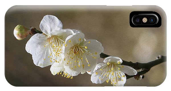 White Cherry Flower IPhone Case