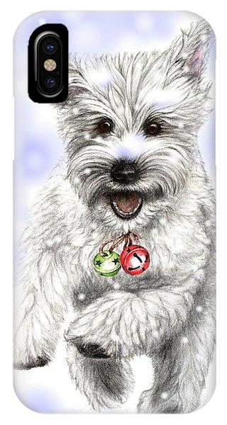 White Christmas Doggy IPhone Case