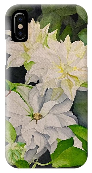 White Clematis IPhone Case