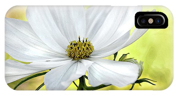 White Cosmos Floral IPhone Case