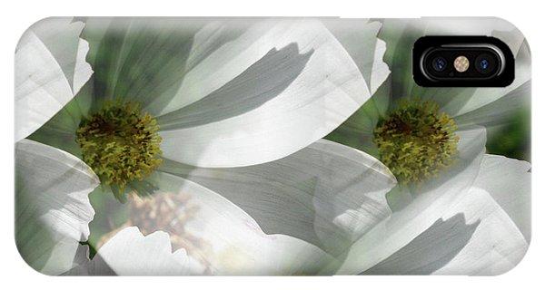 White Cosmos Petals IPhone Case