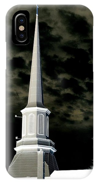 White Cross Dark Skies IPhone Case