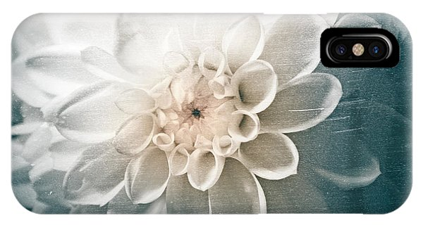 White Dahlia IPhone Case