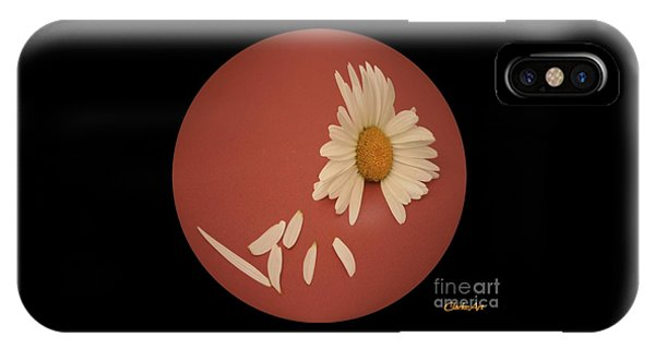 Encapsulated Daisy With Dropping Petals IPhone Case