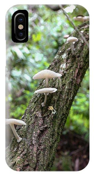 White Deer Mushrooms IPhone Case