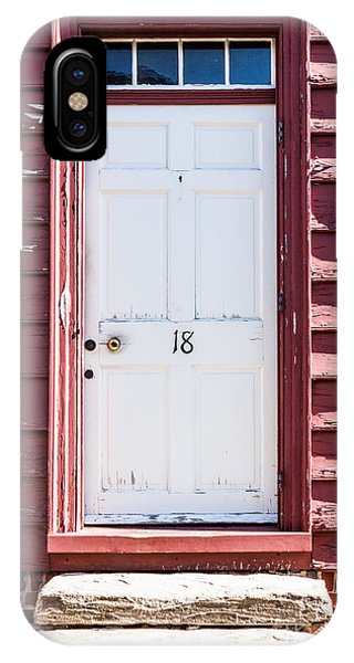 White Door And Peach Wall IPhone Case