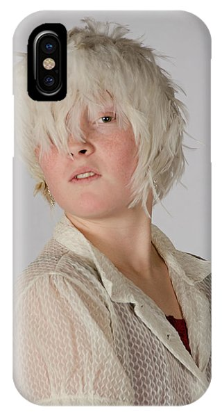 White Feather Wig Girl IPhone Case