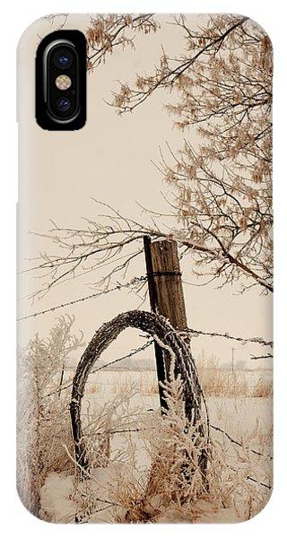 White Fence IPhone Case