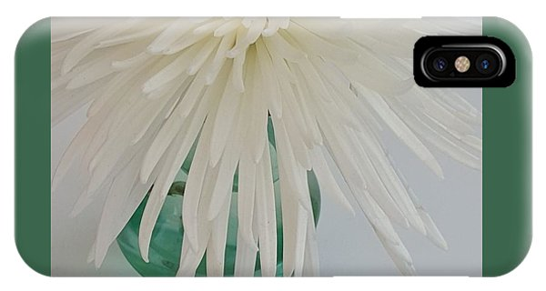 White Flower In A Vase By Jasna Gopic IPhone Case