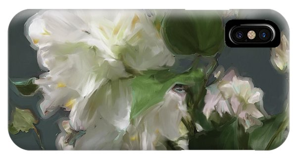 White Flowers 103 IPhone Case