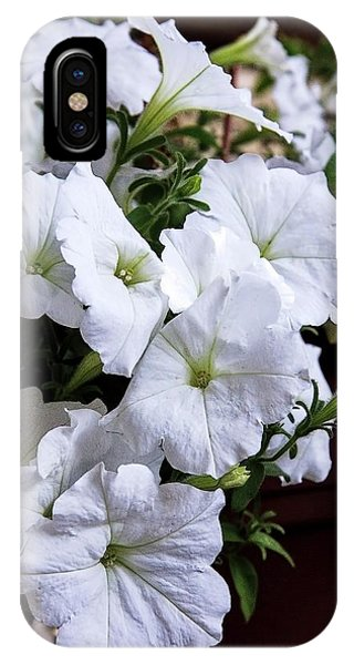 iPhone Case - White Flowers by Bill Linn