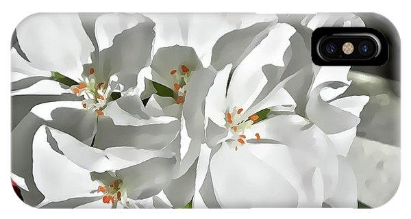 White Geraniums IPhone Case