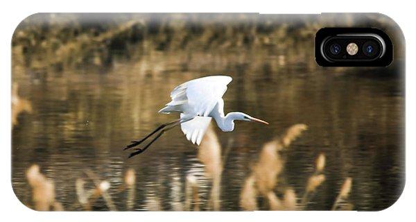 White Heron IPhone Case