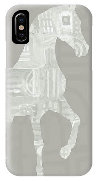 Equine iPhone Case - White Horse 1- Art By Linda Woods by Linda Woods