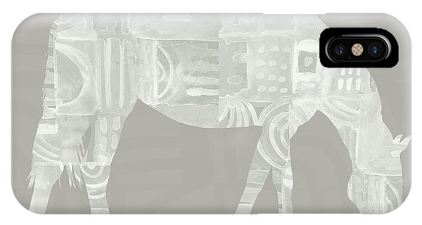 Farm iPhone Case - White Horse 2- Art By Linda Woods by Linda Woods