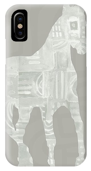 Equine iPhone Case - White Horse 3- Art By Linda Woods by Linda Woods