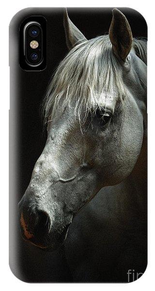 White Horse Portrait IPhone Case