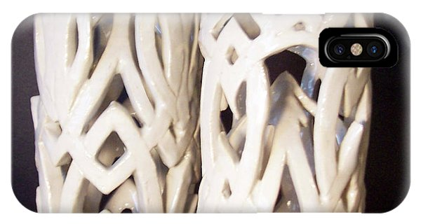 White Interlaced Sculptures IPhone Case