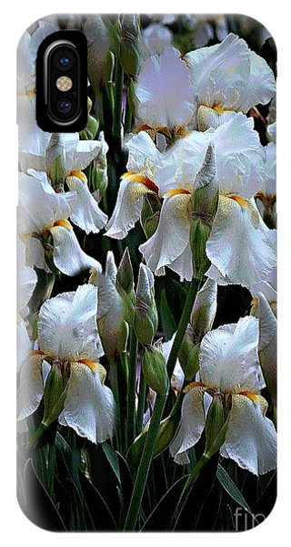 White Iris Garden IPhone Case