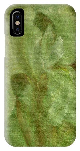 White Iris Painterly Texture IPhone Case