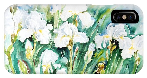 White Irises IPhone Case