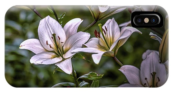 White Lilies #g5 IPhone Case