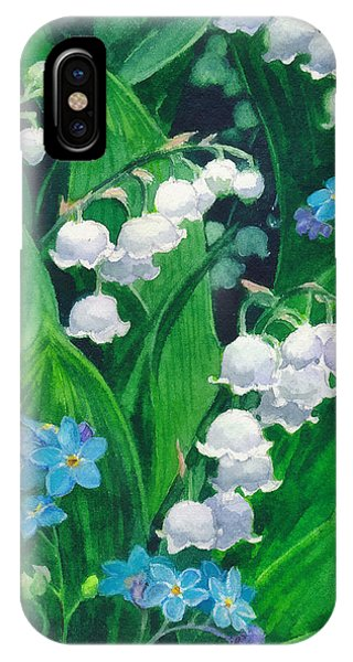 White Lilies Of The Valley IPhone Case