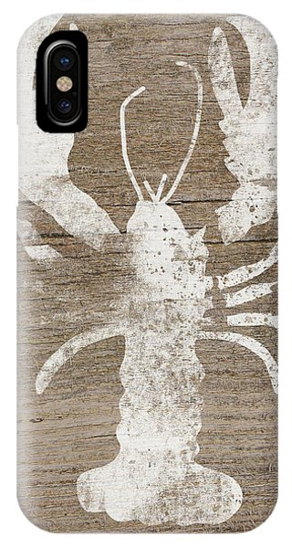 Wood iPhone Case - White Lobster On Wood- Art By Linda Woods by Linda Woods