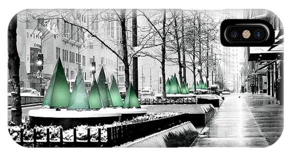 White Mag Mile Christmas IPhone Case