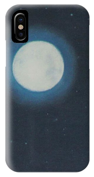 White Moon At Night IPhone Case