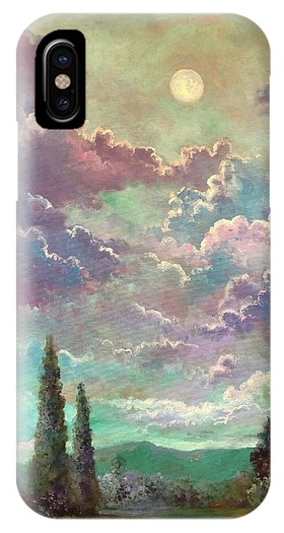 White Moon Rising IPhone Case