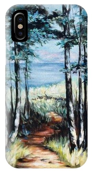 White Mountain Forest IPhone Case