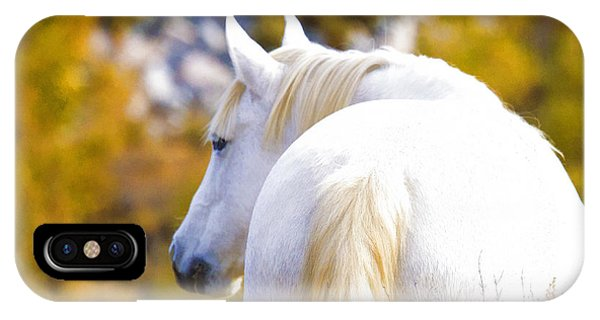 White Mustang Mare IPhone Case