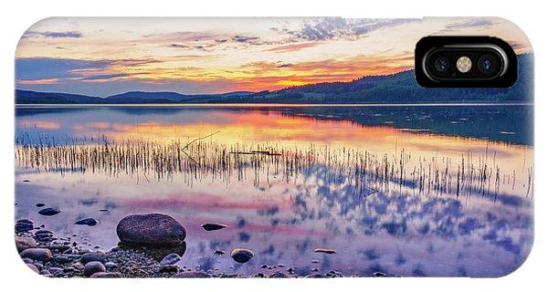 White Night Sunset On A Swedish Lake IPhone Case