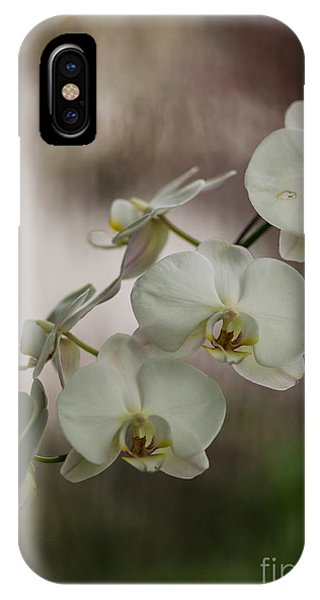 Orchid iPhone Case - White Of The Evening by Mike Reid
