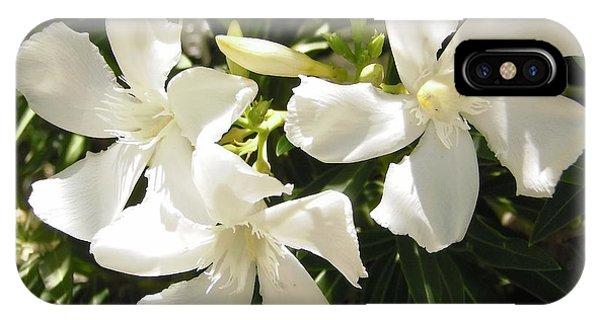 White Oleander Flowers IPhone Case