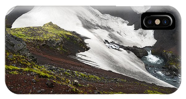 White On Black In The Icelandic Highlands IPhone Case
