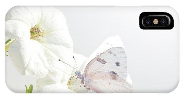 White On White IPhone Case