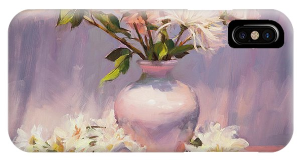 Bloom iPhone Case - White On White by Steve Henderson