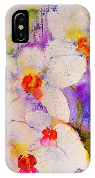 White Orchids IPhone Case