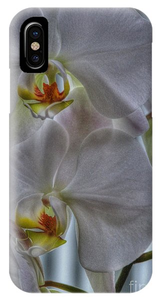 White Orchids Phone Case by David Bearden