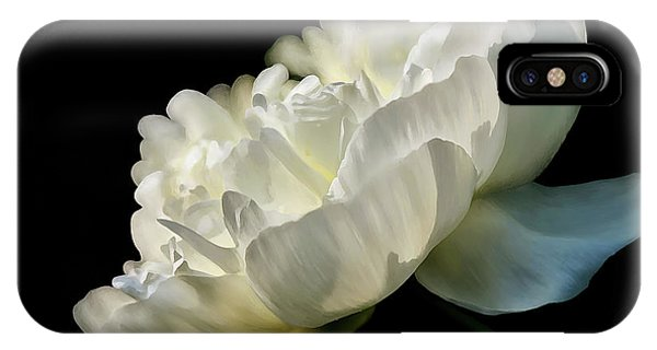 Peony iPhone Case - White Peony In The Light by Lois Bryan