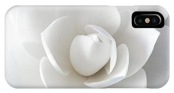 White Petals IPhone Case